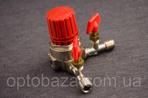 Корпус регулятора давления (малый) 3 выхода для компрессоров, фото 2