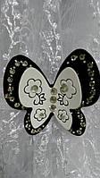 Магнит для штор черно-белый Бабочка