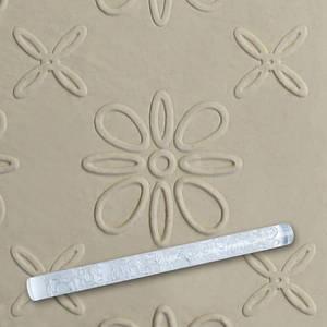 Скалка текстурная для мастики прозрачная  Д=13мм L= 207мм Empire EM8930  (Empire Эмпаир Емпаєр) 