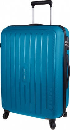 Износостойкий дорожный 4-х колесный чемодан 40 л CARLTON Phoenix 239J455;93 синий