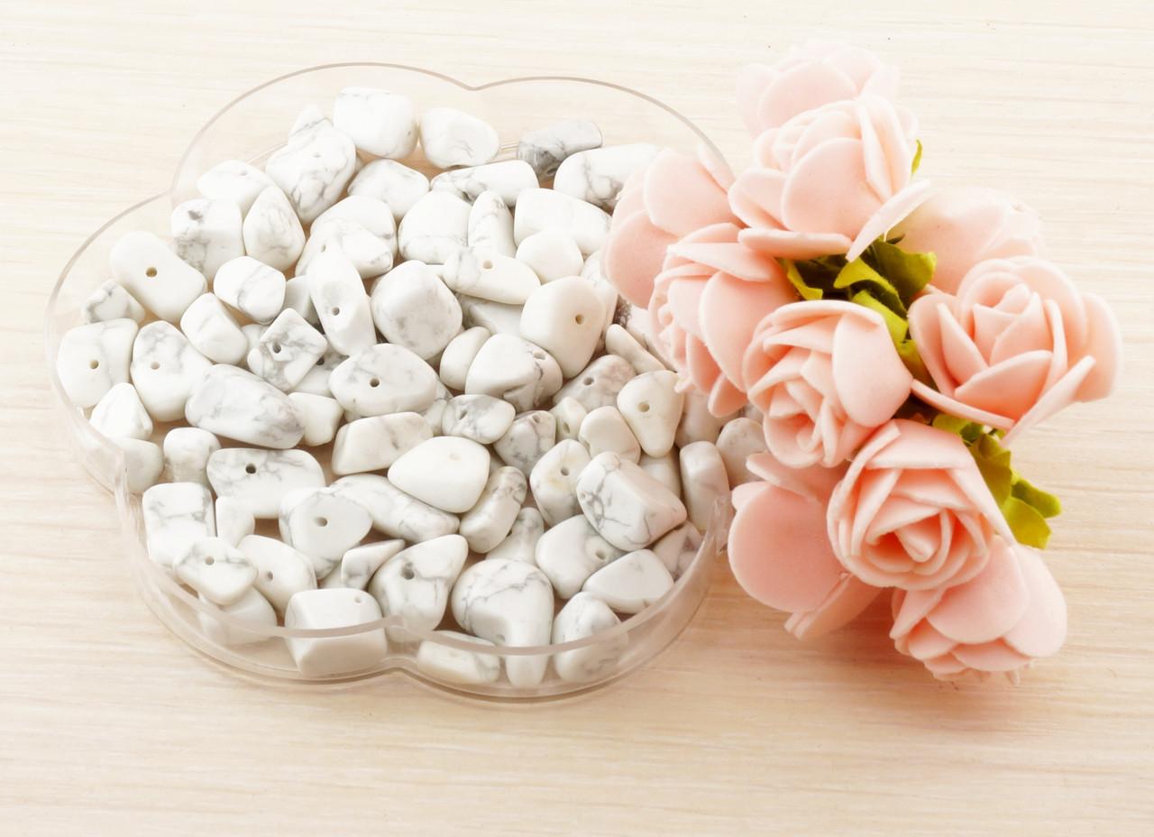 Бусины из натурального камня крошка 11 Хаулит (10 грамм)