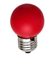 Светодиодная лампа цветная 1W LB-37 красная