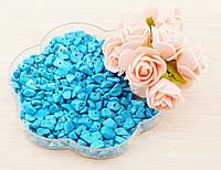 Бусины из натурального камня крошка 19 Бирюза (10грамм) (товар при заказе от 200 грн)