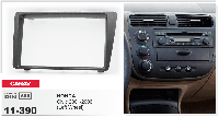 2-DIN переходная рамка HONDA Civic 2001-2006 (Left Wheel / Black), CARAV 11-390