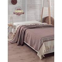 Покрывало хлопковое Eponj Home - Enlora Haris коричневое 200*240