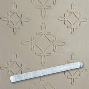 Скалка текстурная для мастики прозрачная  Д=13мм L= 207мм Empire EM8931  (Empire Эмпаир Емпаєр) 