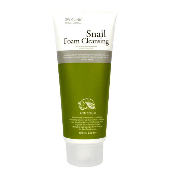 Пенка для умывания 3W CLINIC Snail Cleansing Foam 100ml