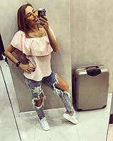 """Женская стильная блуза """"Волан"""" (2 цвета), фото 1"""