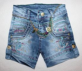 Джинсовые шорты на  девочку 4,5,6,7,8 лет