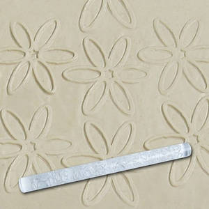 Скалка текстурная для мастики прозрачная  Д=13мм L= 207мм Empire EM8933  (Empire Эмпаир Емпаєр) 