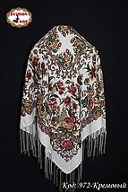 Павлопосадский кремовый платок Алиса, фото 3