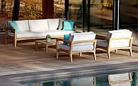 Комплект мебели для отдыха на улице из дуба