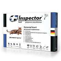 Комплекс Инспектор (Inspector), капли от внешних и внутренних паразитов для кошек от 1 до 4 кг, 1 ампула