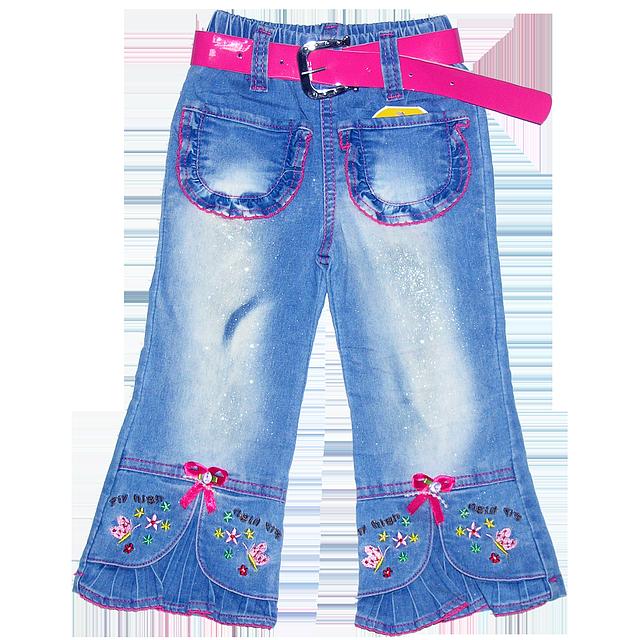 185059d45 Детские джинсы для девочки р 98-104 с вышивкой и карманами, Китай, ТМ