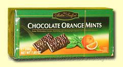 Черный шоколад с мятно-апельсиновой прослойкой Royal orange mints 0.200  гр.