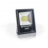 Светодиодный прожектор EVRO LIGHT EV-20-01, 20W, 220V, IP65, Premium, 1600Lm, 6400K белый холодный