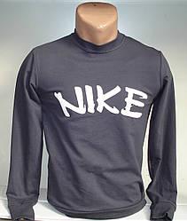 Мужская толстовка с надписью Nike  серого цвета