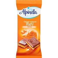 Молочный шоколад Alpinella mleczna toffee 90 гр