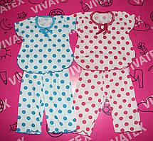 Пижама летняя детская бриджи кулир