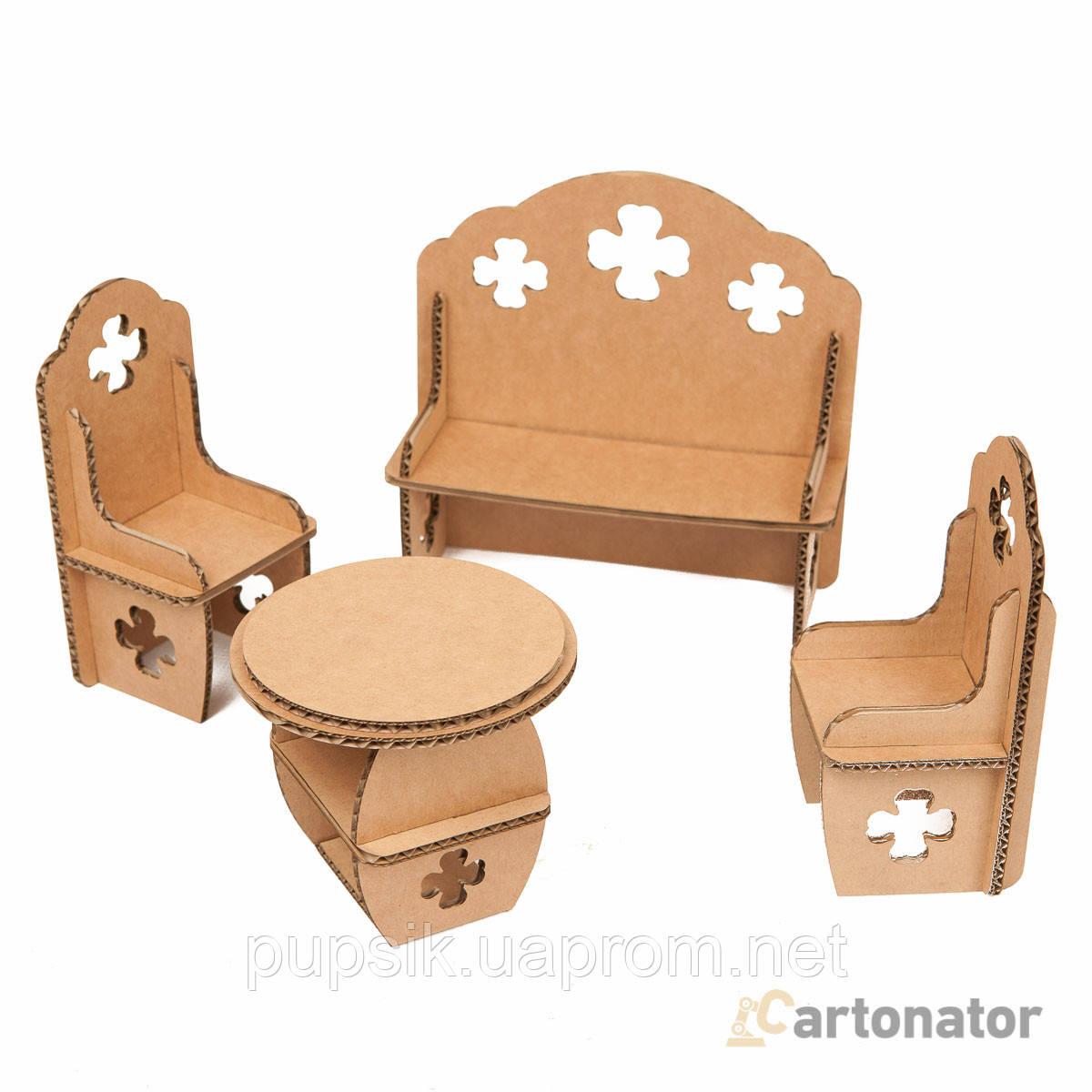 Кукольная мебель для гостиной «Клевер», Cartonator