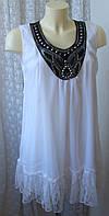 Туника платье белое нарядное летнее Adigia р.50 6195, фото 1