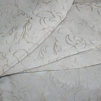 Тюль с вышивкой кисея беж