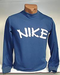 Мужская толстовка с надписью Nike  синего цвета