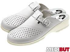 Шлепанцы кожаные (медицинская обувь) BMKLADZPADAM W