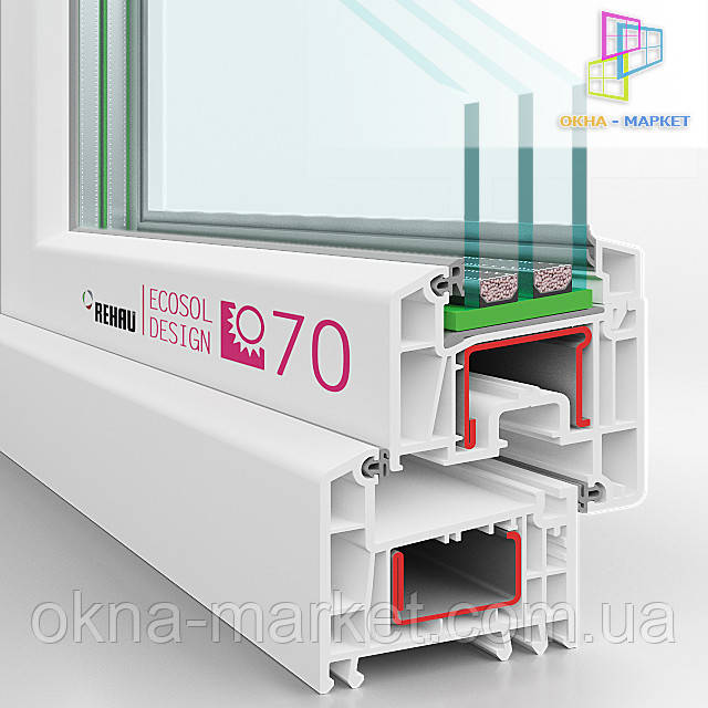 Тёплые окна Rehau Ecosol (066) 777-31-49