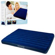 Велюр матрац Intex 68759 синий средний, 152-203-22см KHT