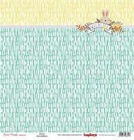 Бумага для скрапбукинга, Лесные друзья - Пушистый друг, односторонняя, 30,5х30,5см, 180г/м