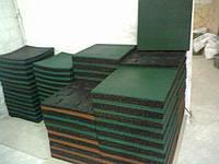 Спортивная резиновая плитка 500х500х40 мм