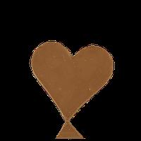Серце-листiвка з молочного шоколаду