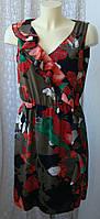 Платье женское элегантное красивое в цветах летнее S.Oliver р.46 6197а