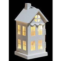 Украшение декоративный металлический Дом белый