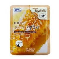 Тканевая маска 3w clinic fresh mask sheet royal jelly (маточное молочко)