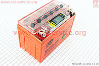 Аккумулятор 9Аh (гелевый, оранж) 150/85/105мм с ИНФОР. ДИСПЛЕЕМ, 2016