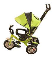 Детский трехколесный велосипед с надувными колесами и родительской ручкой 3113-4А