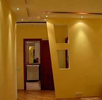 Фальш стена из гипсокартона для раздвижной двери