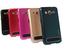 Бампер алюминиевый для Samsung Galaxy Core 2 G355 - Motomo TPU Metal case (разные цвета)