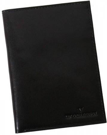 Удобная кожаная обложка-портмоне Vip Collection 19A NP черный