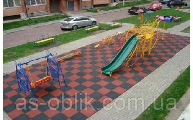 Покрытие для детских площадок 500х500х20 мм