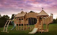 Деревянный домик-площадка под заказ №5