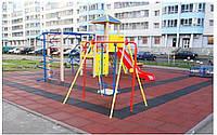 Резиновая плитка для спортивных площадок 500х500х25 мм, фото 1