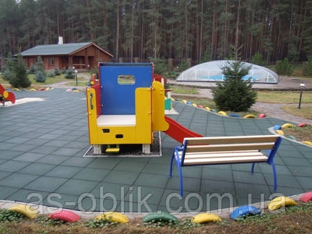 Резиновая плитка для спортивных дорожек 500х500х30 мм