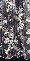 Тюль органза печать мелкая Сакура - 4,5 метра