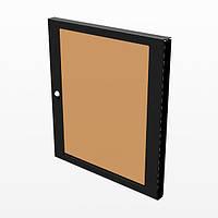Дверь R8450/08 прозрачная поликарбанатная 8U для рек стойки R8400/08, с врезным замком под ключ.