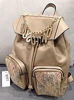 Рюкзак женский Moschino бежевый