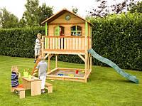Деревянный домик-песочница с горкой заказ №9