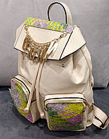 Рюкзак Moschino белый эко-кожа